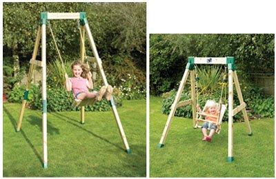 wooden swing frame