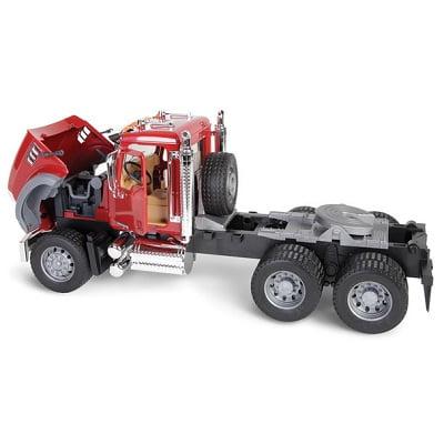 The Mack Truck With Backhoe Loader 1