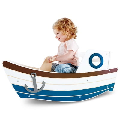 The Child's Wooden Rocking Boat 1
