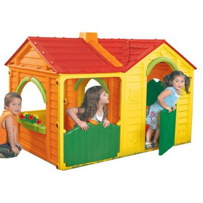 Villa Playhouse With Two Stools