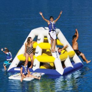 The Floating Jungle Gym - The Best Inflatable Water Climbing and Sliding Floating Gym