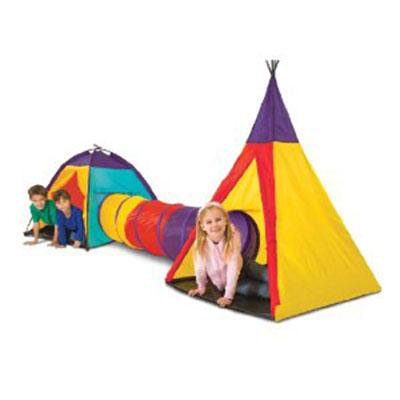 Kids Adventure Set Play Tent with Tunnel