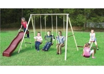 Flexible Flyer Play-A-Round Fun Swing Set with Plays