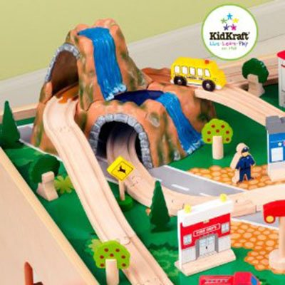 Waterfall Mountain Train Set and Table