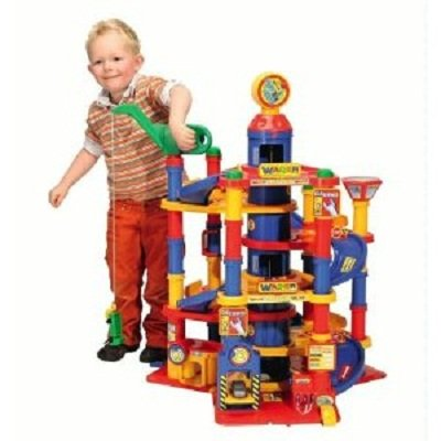 Wader park tower playset with cars your kids 7 floors for Garage auto 7
