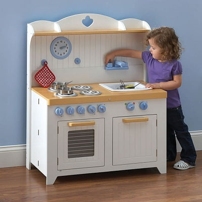 The Young Chef 39 S Foldaway Kitchen Playset The Modern Play Kitchen Set For Kids