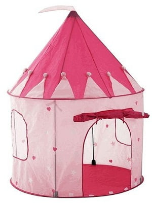 Girl's Pink Princess Castle Play Tent for Kids