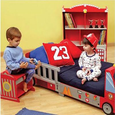 KidKraft Firefighter Series Fire Truck Toddler Cot 2