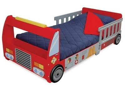 KidKraft Firefighter Series Fire Truck Toddler Cot