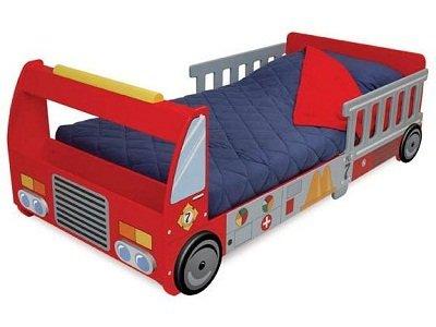 KidKraft Firefighter Series Fire Truck Toddler Cot