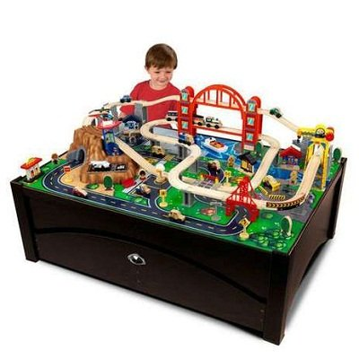 KidKraft Metropolis Train Table and Set 2
