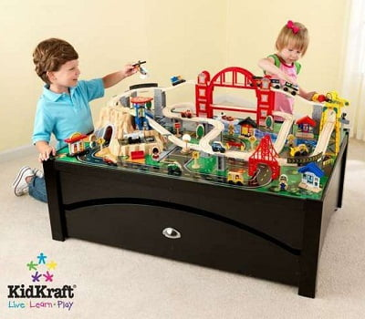 KidKraft Metropolis Train Table and Set 3