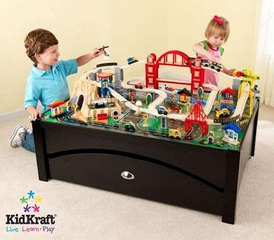 KidKraft Metropolis Train Table and Set