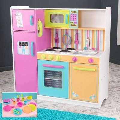 KidKraft Big and Bright Kids Pretend Play Kitchen