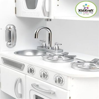 KidKraft White Vintage Kitchen Kids Pretend Play Set 3