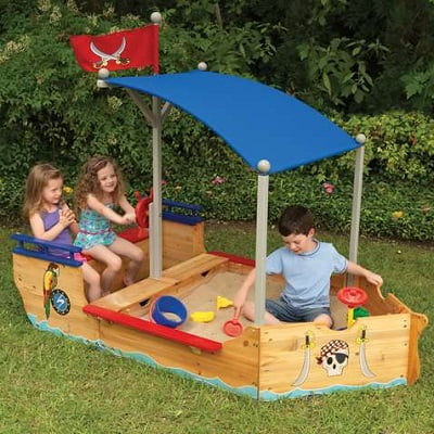 Kids Pirate Flag Sand Boat 1