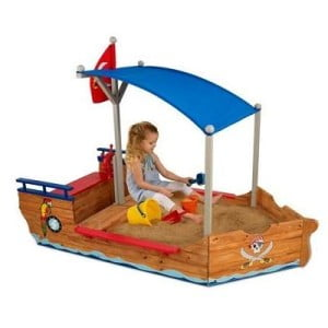 Kids Pirate Flag Sand Boat