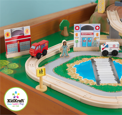 Ride Around Town train set with table 2
