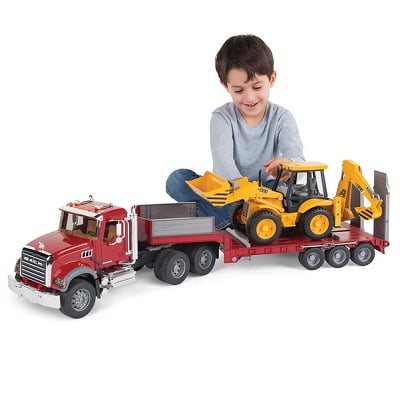The Mack Truck With Backhoe Loader