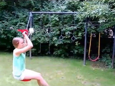 The Seated Backyard Zipline Kit 2