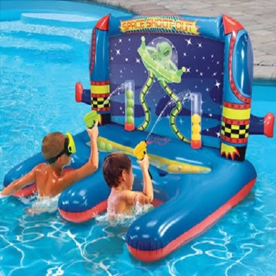 The Space Shoot-Out Inflatable Shooting Game