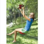 Kids Backyard Zipline - Allows kids to swoop through the air while remaining close to the ground