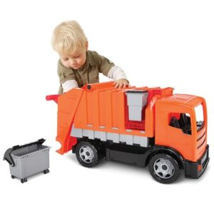The Compacting Garbage Truck - A fully functional and manually operated garbage truck for kids