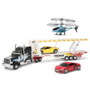 The Mission Possible RC Set - Includes 1 Remote for controlling the Spy Car, Helicopter and Trailer Truck