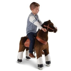 The Virtual Pony - A ride-on plush pony with natural galloping action