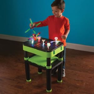 The 3D Illuminated Model Building Table - A construction table for kids that allows them to create illuminated masterpiece