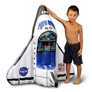 The Aspiring Astronaut's Space Shuttle Play Set - A complete inflatable Space Shuttle with wearable gear for young space explorer