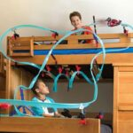 The Mount Anywhere Monorail Racer - Allows kids to build unlimited looping courses