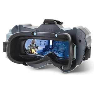 The Avengers Virtual Reality Battle - A head-mounted blaster game that challenges children to battle Ultron