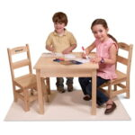 The Children's Play Table and Personalized Chairs - Your kids perfect table set for playing games, working on crafts and even hosting tea parties