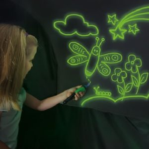 The Glow In The Dark Doodle Dome - A domed tent that lets kids doodle all over its phosphorescent interior