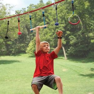 The Junior Ninja's 50' Obstacle Course - Allows kids to emulate ninja athletes as seen on TVs