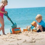 The Personalized Sand Castle Building Tote - A carryall that has all the essentials a family needs for an afternoon at the beach