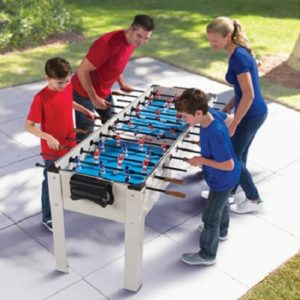 The Only Outdoor Six Player Foosball Game - Your kids 2 3-players outdoor foosball table