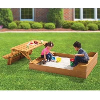 The Transforming Sandbox Picnic Table