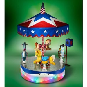 The All American Carousel - Your kids perfect carousel that evokes the classic rides encountered in the carnivals