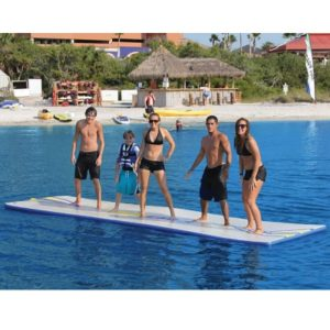 The Walk On Water Inflatable - The inflatable float that allows you to literally walk, run, or lounge on water
