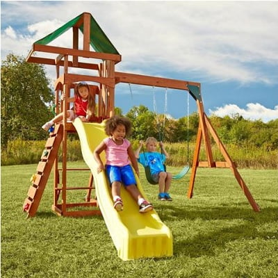 Scrambler Wood Complete Play Set