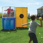 The Backyard Dunk Tank - A 500-gallon dunk tank that imparts a carnival atmosphere to any backyard event