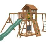 Cypress Swing Set - Packed with healthy and challenging activity for kids to give them fun while building upper body strength