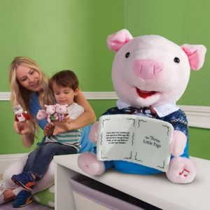 The Animated Storytelling Little Pig - A lovable porcine plush with animated head and body
