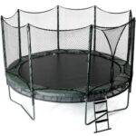 The Double Bounce Trampoline - Equipped with dual-layer rebounding platform that provides a high performance bounce with softer landings