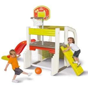 The Toddler's Sports Multiplex - The perfect backyard playhouse for wannabe athletes