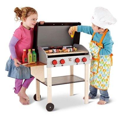 Child's Wooden BBQ Playset