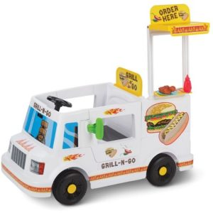 The Portable Grill Food Truck - An electric ride-on food truck with a pop-up grill station