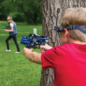 The Long Range Laser Blaster Set - A laser tag set that allows two players to target each other from up to 100 feet away
